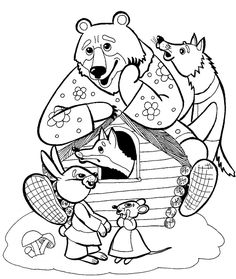 Медведь в теремке - раскраска №399 Autumn Art, Coloring Pages For Kids, Nursery Rhymes, Boy Or Girl, Fairy Tales, Literature, Kindergarten, Snoopy, Dolls