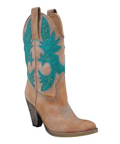 Take a look at this Very Volatile Tan Rio Grande Cowboy Boot on zulily today!