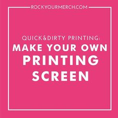 My favorite cheap hack for printing..... . Learn how to make your own screen printing screen for CHEAP! You just need a few basic supplies and you'll be ready to print your own merch at home!