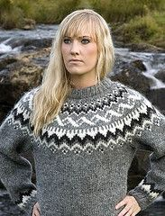 Blonde Girl in Lopi sweater (Mytwist) Tags: wool iceland sweater craft jumper pullover icelandic lopi crewneck icelandicsweater month12 lopapeysa slensk lopapeysur lettlopi islandstrja istex lopapeysunni