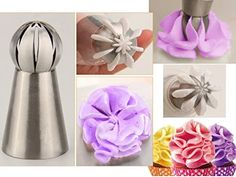 Cheap nozzle tip, Buy Quality cake decorating tools directly from China icing piping Suppliers: Sphere Ball shape DIY Cake Decorating Tool Icing Piping Cream Pastry Nozzles Tip Stainless Steel Cupcake Bake tool Bicos Creative Cake Decorating, Cake Decorating Tools, Cake Decorating Techniques, Russian Cake Tips, Russian Piping Tips, Fondant Cupcakes, Baking Cupcakes, Cupcake Cakes, Cake Baking