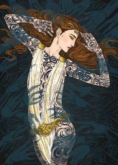 """Dance, Feyre, dance!"" ""A Court of Thorns and Roses"" (by Sarah J.Maas @ sjmaas.tumblr.com/ ) by phantomrin on tumblr"