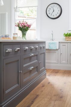 A beautiful In-frame bespoke kitchen design from Heathfield. From Jones Britain's exclusive range of furniture. Come in & visit the showroom to start your new project. Bespoke Kitchens, East Sussex, Showroom, Kitchen Design, Range, Cabinet, Interior Design, Detail