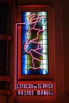 Passos Manuel Typo, Neon Signs, Porto, Step By Step
