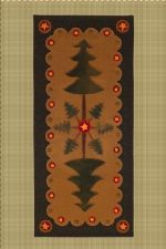 Penny Rugs - Winterberry Cabin, Hand-dyed Felted Rug Hooking Wool, Wool Applique, Penny Rug Patterns & Kits