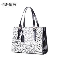 Coraldaisy Shoulder Bag New 2013 Abstract stripe Bags Patent Leather Women Handbag Women Leather Handbags