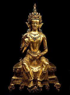 maitreya buddha   height 42.5 cm.