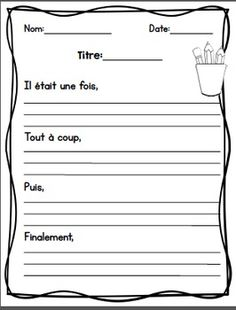 Learn French Videos Tips France Key: 3555176695 French Teaching Resources, Teaching French, Teaching Writing, Writing Activities, Teaching Tools, Writing Centers, French Worksheets, French Education, Core French