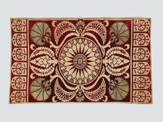 """Velvet yastik face, Bursa, 17th century. TM 1.54. Acquired by George Hewitt Myers in 1951. ___ From the exhibition """"The Sultan's Garden: The Blossoming of Ottoman Art"""" at the Textile Museum, Washington DC"""