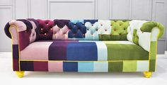 chesterfield patchwork sofa. $2,800.00, via Etsy.  Want :)
