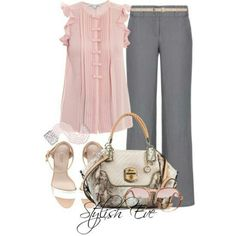 Pink and Grey. Work wear