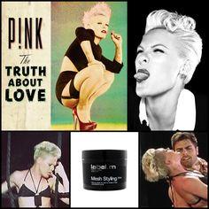 Recreate #Pink's edgy, texture #quiff using #labelm Matt Paste
