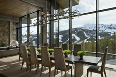 Dining room with a view in Big Sky, Montana