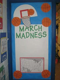 For a basketball themed classroom   Basketball Decorations    Sports     Image detail for  The bulletin board outside the room where we will locate  the schools