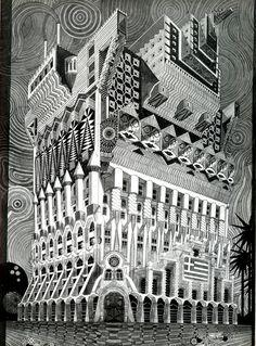 Pedro Friedeberg. Architecture D'Aujourd'Hui 102 Jun 1962- 103