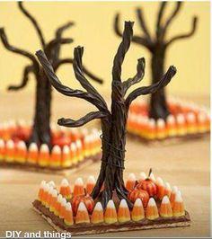 Cutest halloween idea everr! :) #candycorn #licorice