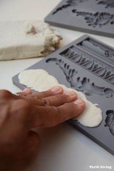 How to Add Vintage Clay Mold Appliques to Furniture : Thrift Diving Blog