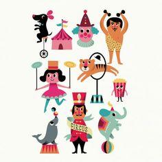Ingela P. Arrhenius Crazy Circus Party Pack Tattoos Set van 2