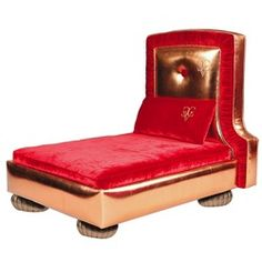 Chien Vivant Couture Collection is dedicated to pampered dogs with its use of luxurious fabrics and state of the art design. Le Cuivre is a couture dog bed that combines slick lines with the finest fabrics to create a truly unique and exceptional design. Passion-red silk velvet contrasts against metallic copper faux leather with a solid wood frame for unmatched stability. Foam cushions ensure unrivalled comfort as well as style. This couture bed is a sculptural dream to compliment both your…