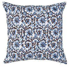 hand-block pillow cover