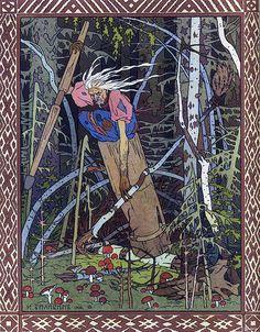 """E' arrivata la strega dell'est Baba Jaga. Tutti i bambini russi la temono! Nel folklore slavo e in tutte le fiabe questa donna dall'aspetto orribile e minaccioso è chiamata Baba Jaga; si dice che lei sia la nonna del diavolo. Nella lingua russa, """"baba"""" significa """"vecchia/nonna""""."""