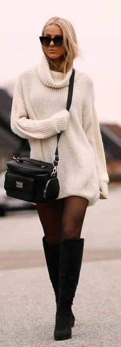 Fall outfits Coole Kleider, Kleidung, Rollkragenpullover, Kleid Winter,  Mode Herbst, Lässige 73ef66a0b3