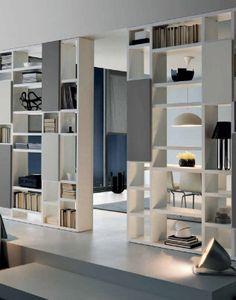 Home Room Design, Home Office Design, Bathroom Interior Design, Living Room Designs, Living Room Divider, Living Room Shelves, Home Living Room, Living Room Inspiration, Interior Design Inspiration