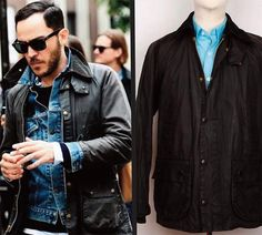 Awesome Clean Fresh BLACK Barbour Bedale Wax Jacket Sz 38 by MasteroftheHunt on Etsy