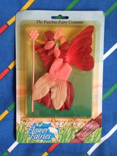 Vintage Hornby Flower Fairies costume FUSCHIA deluxe dress