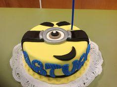 Torta de Minios, marmoleada con Chocolate, cumpleaños de Arturo, 4 años, hecha por: Adriana Mesa.