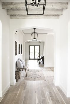 Silver Satin  by Benjamin Moore in the hallway at  #jetsetclient   Photo by:  Emily Kennedy Photo Home Design, Modern House Design, Modern Interior Design, Design Ideas, Design Styles, Design Inspiration, Design Design, Decor Styles, Design Homes