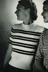 NEW! Striped Pullover knit pattern from Jack Frost, Volume No. 53, originally published in 1951.