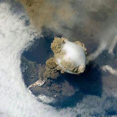 NASA captured erupting volcano in Guatemala from space.