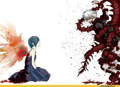 Tokyo Ghoul,Anime,аниме,Kirishima Touka,Kaneki Ken