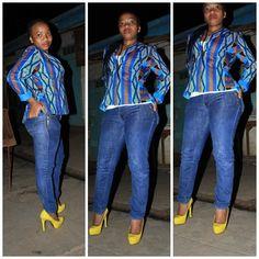 baby blue kitenge