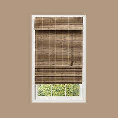 Home Decorators Collection Cut to Width Driftwood (Brown) Flatweave Bamboo Roman Shade - 53.5 in. W x 72 in. L