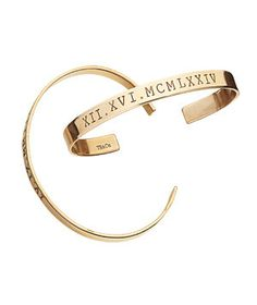 Roman Numeral Hand Stamped Brass Cuff | When commencement congratulations are in order, share your best wishes with one of these creative picks.