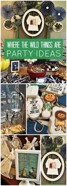 This baby shower has a Where the Wild Things Are theme! See more party ideas at CatchMyParty.com!