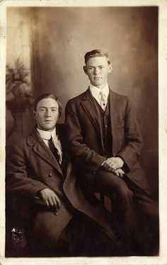 Two young men, circa 1910 | Flickr - Photo Sharing!