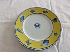 "Lynn Chase Designs Porcelain Bread & Butter Plate, Costa Azzurra, 6.5"", EUC  #LynnChaseDesigns"