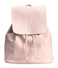 Pink Leather Backpack   H&M Accessories