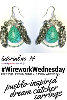 These wire earrings from @divaonline look great with that turquoise bead! #WireworkWednesday