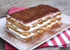 Klasické aj nevídané zákusky s mascarpone. Sweet Desserts, No Bake Desserts, Dessert Recipes, Tiramisu Cake, No Bake Cake, Nutella, Cheesecake, Deserts, Food And Drink