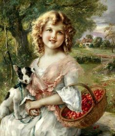 「さくらんぼ摘み」制作年不明エミール ・ ヴァーノンÉmile Vernon, The Cherry Pickers