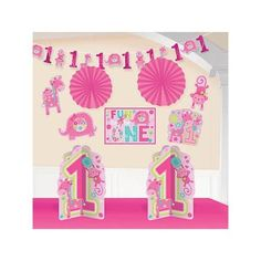 One Wild Girl 1st Birthday Room Decorating Kit (Each) - Party Supplies - Walmart.com