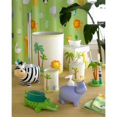 Safari Bath Accessory Collection Bring The Wild Into Your Child S Bathroom Stuffkid