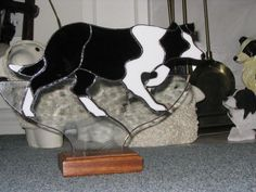 border collie stained glass pattern - Google Search