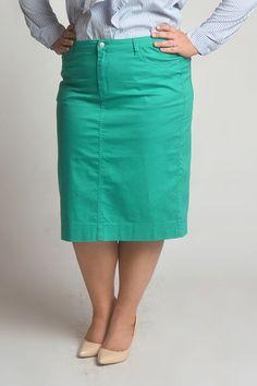 22248c20e86d2 Emerald Green Colored Denim Skirt Denim Skirts, Stitch Fix Outfits, Layered  Tops, Colored