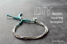 diy double layering bracelet tutorial