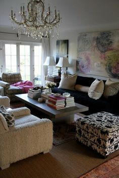 colour   pattern   texture in glam living room of Tia Zoldan http://findanswerhere.com/homedecor